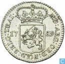 """Utrecht ¼ Gulden 1759 (Silber) """"muntmeesterspenning"""""""