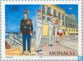 Briefmarken - Monaco - Prince Palace Guard
