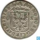 """Deventer 6 stuiver 1689 """"Rijderschelling"""""""