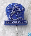 Scorpion [or sur fond bleu]