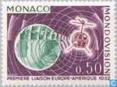 Postage Stamps - Monaco - First satellite broadcast