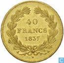 France 40 francs 1837
