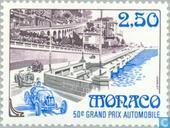 Postage Stamps - Monaco - Monaco Grand Prix-50th