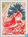 Postage Stamps - Monaco - Christmas tree