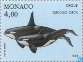 Postage Stamps - Monaco - Whales