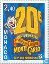 Postage Stamps - Monaco - Int. Circus Festival, 20th