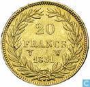 Frankrijk 20 francs 1831 (W)