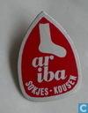 Ariba sokjes-kousen [rouge]