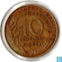 France 10 centimes 1966