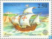 Postzegels - Monaco - Europa – Ontdekking van Amerika