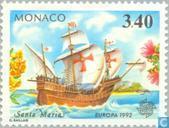 Timbres-poste - Monaco - Europe – Découverte de l'Amérique