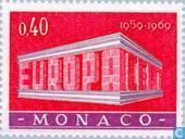 Postzegels - Monaco - Europa – Tempel