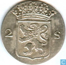 Monnaies - Hollande - Holland 2 stuivers 1790