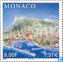 Postzegels - Monaco - Prins Rainier III- Regeringsjubileum