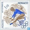 Timbres-poste - Monaco - Jeux Olympiques à Moscou