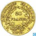 France 20 francs AN 12