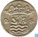 Monnaies - Zélande - Zélande 2 stuivers 1733
