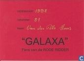 """Lidmaatschapskaart """"Galaxa"""" Fans van de Rode Ridder"""