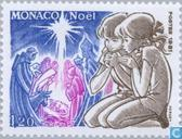 Postage Stamps - Monaco - Children at nativity