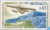 Timbres-poste - Monaco - Rallye Aérien de Monaco - Monoplan Nieuport