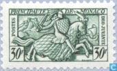 Postzegels - Monaco - Ridder te paard