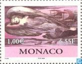 Postzegels - Monaco - Hedendaagse kunst