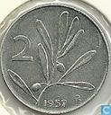 Italien 2 Lire 1.957
