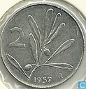 Italie 2 lire 1957
