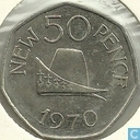 Guernsey 50 new pence 1970