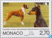 Postzegels - Monaco - Int. Hondententoonstelling
