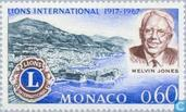 Postage Stamps - Monaco - 50 years of Lions Clubs International