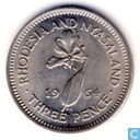 Rhodesia and Nyasaland 3 pence 1964