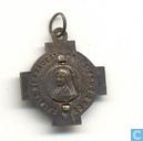 Divers - Reliques - Medaillon Sainte Bernadette priez pour nous