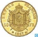 France 50 francs 1867 (BB)