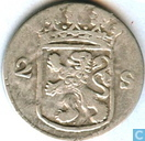 Coins - Holland - Holland 2 stuivers 1780