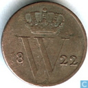 Nederland ½ cent 1822 (U)