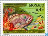 Postzegels - Monaco - Congres Middellandse zee onderzoek