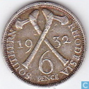Southern Rhodesia 6 pence 1932