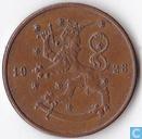 Finland 10 penniä 1928