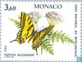Postage Stamps - Monaco - Butterflies and flowers