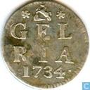 Coins - Gelderland - Gelderland 1734 penny double weaponpenny