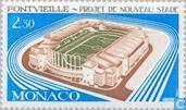 Postzegels - Monaco - Nieuw sportstadion