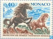 Postage Stamps - Monaco - WWF 20 years