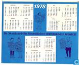 l'objet le plus précieux - Kalendersticker 1978 Suske en Wiske