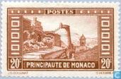 Postzegels - Monaco - Uitzicht op het Prinsdom