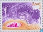 Postage Stamps - Monaco - Children and crib