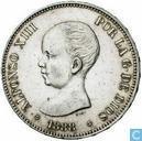 Spanien 5 Peseten 1888 (M•P• •M•)