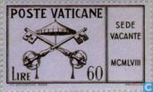 Postzegels - Vaticaanstad - Dood Paus Pius XII