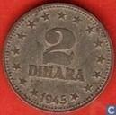 Yugoslavia 2 dinara 1945