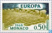 Postzegels - Monaco - Europa